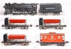 166: NETTE - 6 Pc. LIONEL Coal Train, NEEDS TLC: