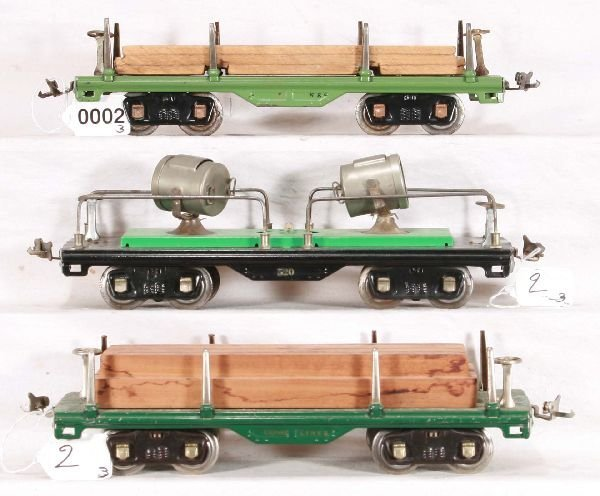 2: NETTE - 3 Restored LIONEL 500 Series Cars: