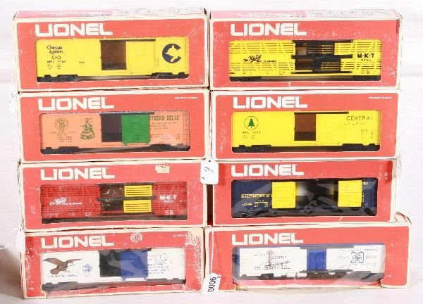 6: NETTE - 8 LIONEL MPC Freight Cars: