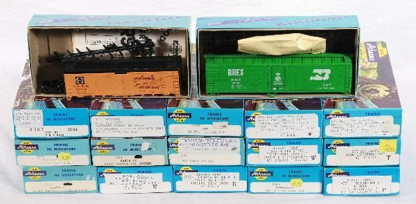 18: NETTE - 17 ATHEARN HO Ga. Freight Car Kits:
