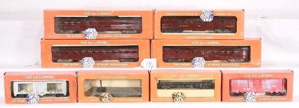 19: NETTE - 8 Boxed LIONEL HO Cars: