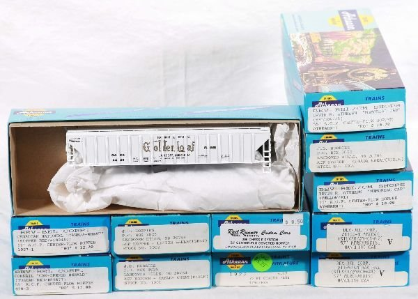 21: NETTE - 12 -50+ Foot ATHEARN HO Freight Cars: