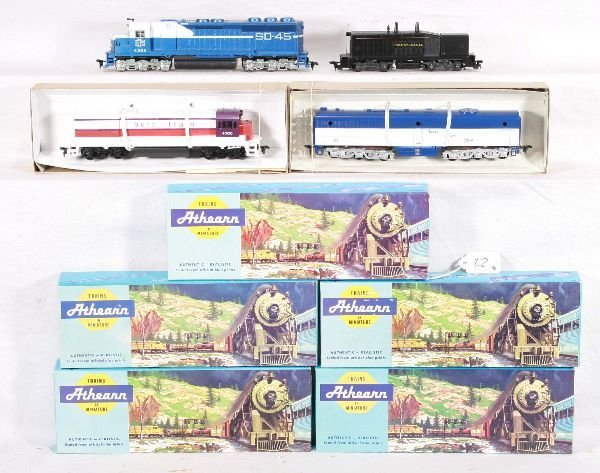 22: NETTE - 9 Pc. ATHEARN Diesel and Passenger Car Lots