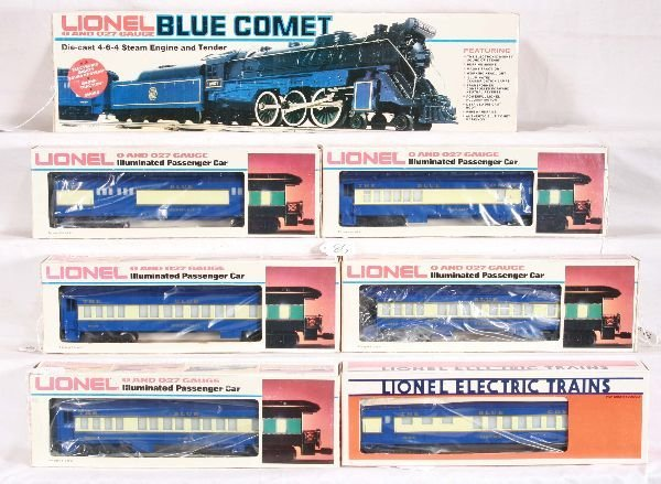 81: NETTE - 7 Pc. LIONEL Blue Comet Set: