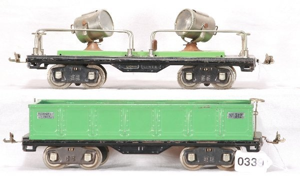 339: NETTE - Late LIONEL 512 and 520 Freight Cars:
