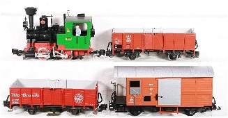 852: NETTE - 4 Pc. LGB G Ga. Steam Freight Set: