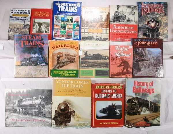 9: NETTE - 15 Hard Cover Railroad Books: