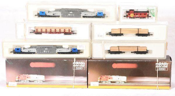 NETTE - 8 Pc. MARKLIN Z Ga. SF Freight Set