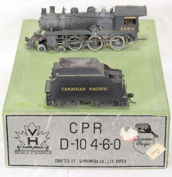 339: NETTE - SAM HO Brass CPR D-10 Steam Loco: