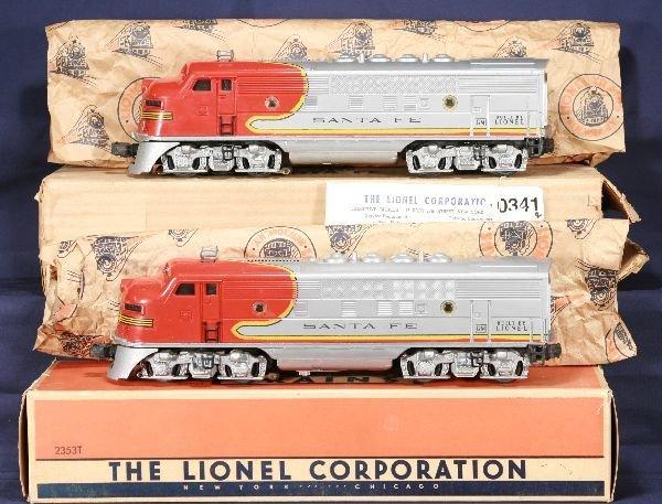 341: NETTE - Nice Boxed LIONEL 2353 SF F3 AA Diesels: