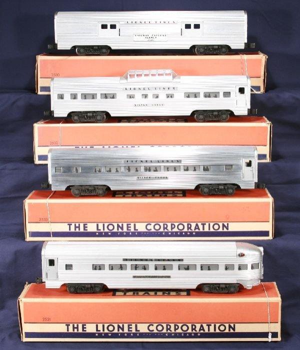 344: NETTE - 4 Boxed LIONEL Super Speedliner Cars: