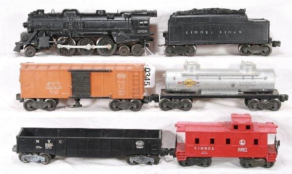 345: NETTE - 6 Pc. LIONEL Steam Freight Set: