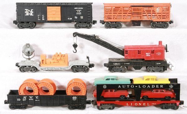 349: NETTE - 6 LIONEL Freight Cars: