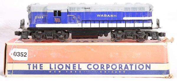 352: NETTE - Boxed LIONEL 2339 Wabash GP-7 Diesel: