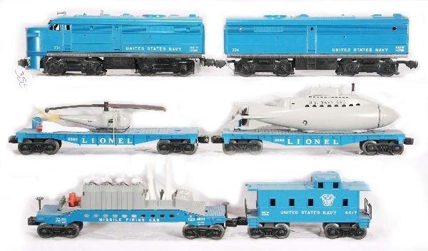 355: NETTE - 6 Pc. LIONEL Navy Train Set: