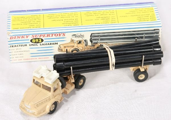 862: NETTE - Boxed French DINKY 893 Unic Pipe Hauler: