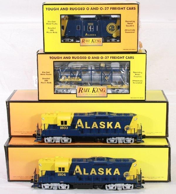 241: NETTE - 4 Pc. MTH RailKing Alaska Freight: