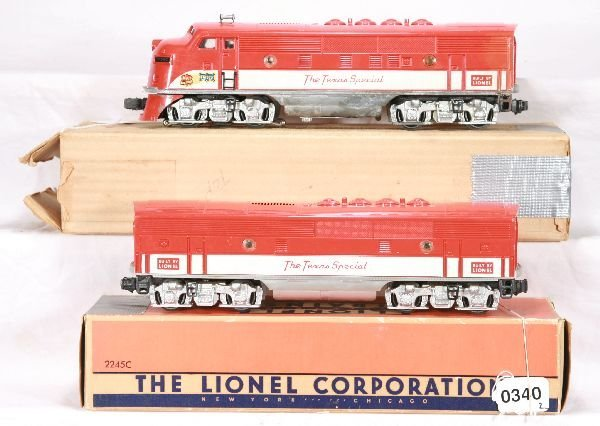 340: NETTE - Boxed LIONEL 2245 TS F3 AB Diesels: