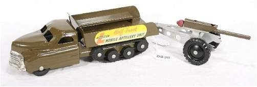 755 NETTE  Unusual BUDDY L Mobile Artillery Unit