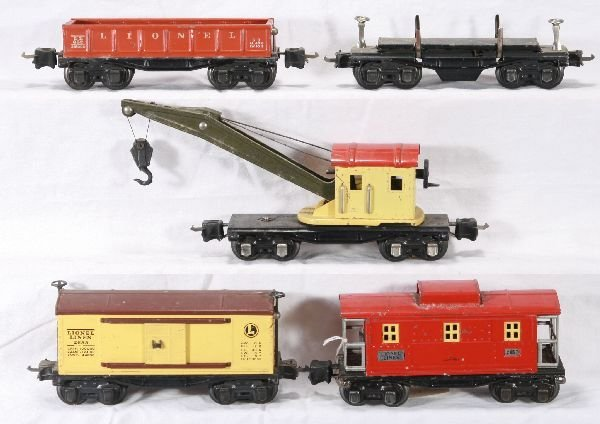 118: NETTE - 5 LIONEL Pre O Freight Cars: