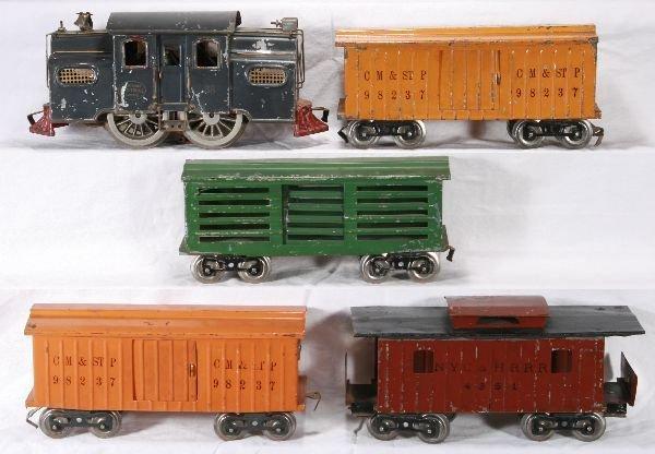 121: NETTE - 5 Pc. LIONEL 38 Freight Set: