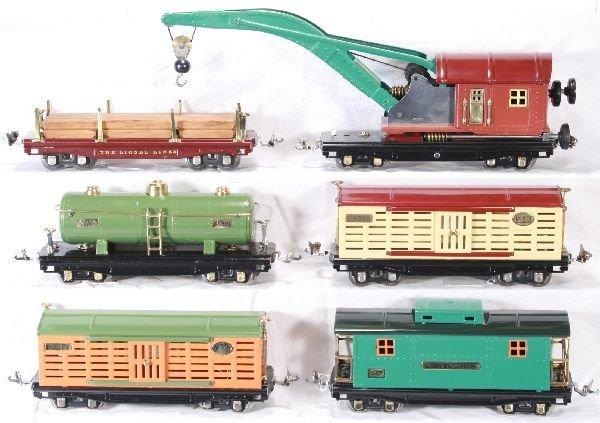 125: NETTE - 6 Restored LIONEL 800 series Freights: