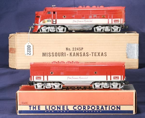135: NETTE - Boxed LIONEL 2245 TS F3 AB Diesels: