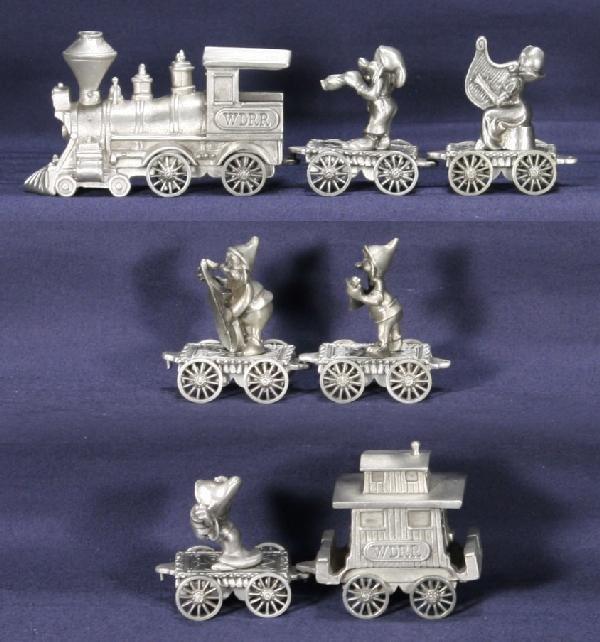 187: NETTE - 7 Pc. HUSDON Pewter Snow White Train: