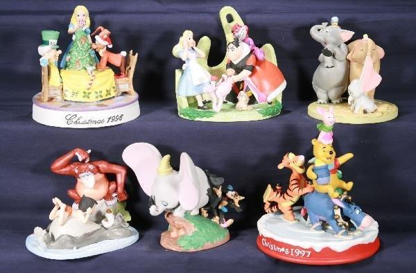 194: NETTE - 6 Pc. DISNEY Bisque Figurine Lot:
