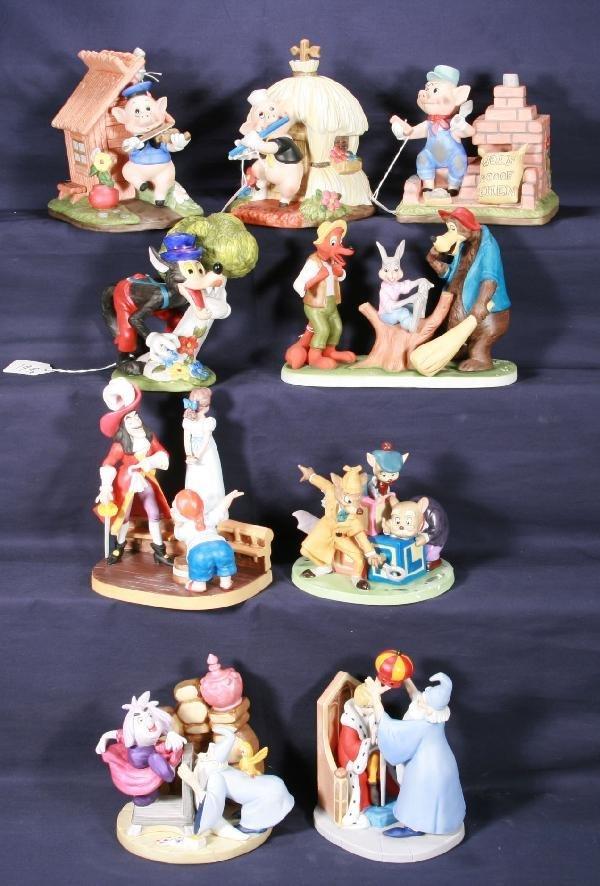 199: NETTE - 9 Pc. Bisque DISNEY Figurines: