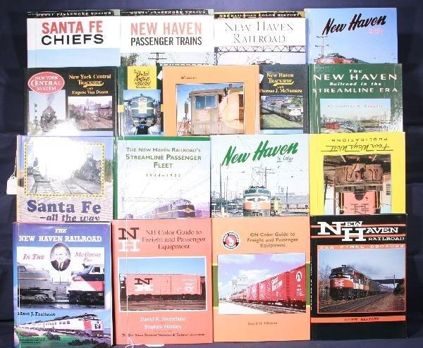 207: NETTE - 17 Hard Cover Railroad Books: