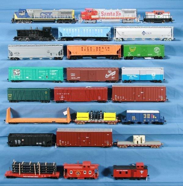 22: 24 Pc. HO Diesel Freight Lot: