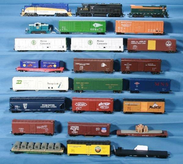 24: 24 Pc. HO Diesel Freight Lot: