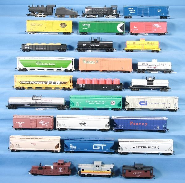 14: NETTE - 27 Pc. HO Ga. Diesel & Steam Freight Lot: