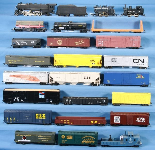 19: NETTE - 24 Pc. HO Ga. Steam Freight Lot: