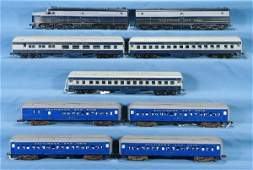 34: NETTE - 9 Pc. HO Ga. B&O Diesel Passenger Group: