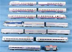 53: NETTE - 16 Pc. HO Ga. Amtrak Lot: