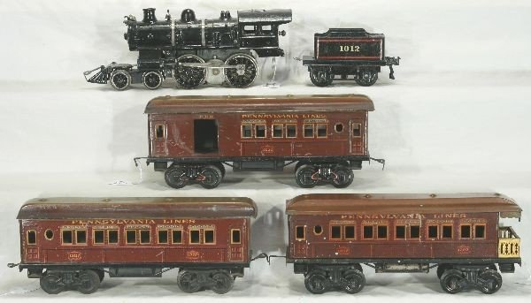 173: NETTE - 5 Pc. BING Ga. 1 PRR Passenger Set: