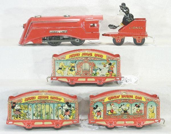 195: NETTE - 5pc LIONEL Mickey Mouse Circus Set: