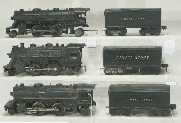 22: NETTE - 3 LIONEL Steam Locos: