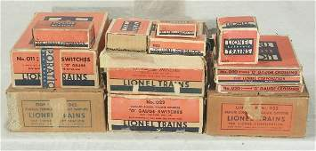 85: NETTE - Boxed LIONEL Track & Switch Lot: