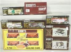 98: NETTE - Huge 9 Pc. K-LINE Hershey's Train Set: