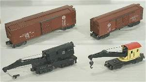 483: NETTE - 4 Early LIONEL Freight Cars: