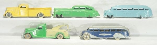 12: NETTE - 5 Pc. TOOTSIETOY 6 inch Vehicle Lot: