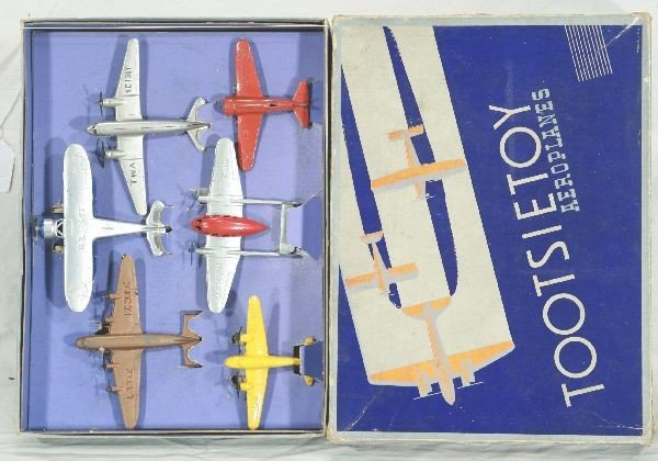 18: NETTE - Boxed TOOTSIETOY Airplane Set 6150:
