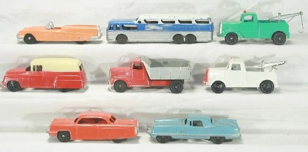 22: NETTE - 8 Pc. Large TOOTSIETOY Vehicles Lot:
