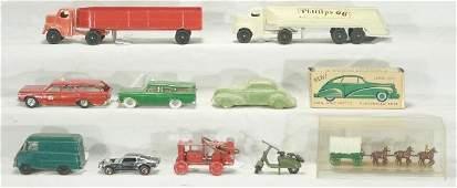 51: NETTE - 9 Pc. Mixed Vehicles Lot, SCARCE PIECES!: