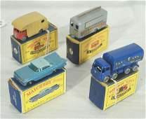 61: NETTE - 4 Boxed Lesney MATCHBOX Cars: