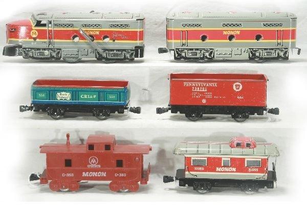 289: NETTE - MARX Monon Train Set, Plus: