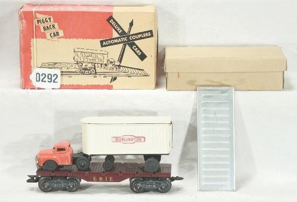 292: NETTE - Mint Boxed MARX 05544 Piggy Back Flat: